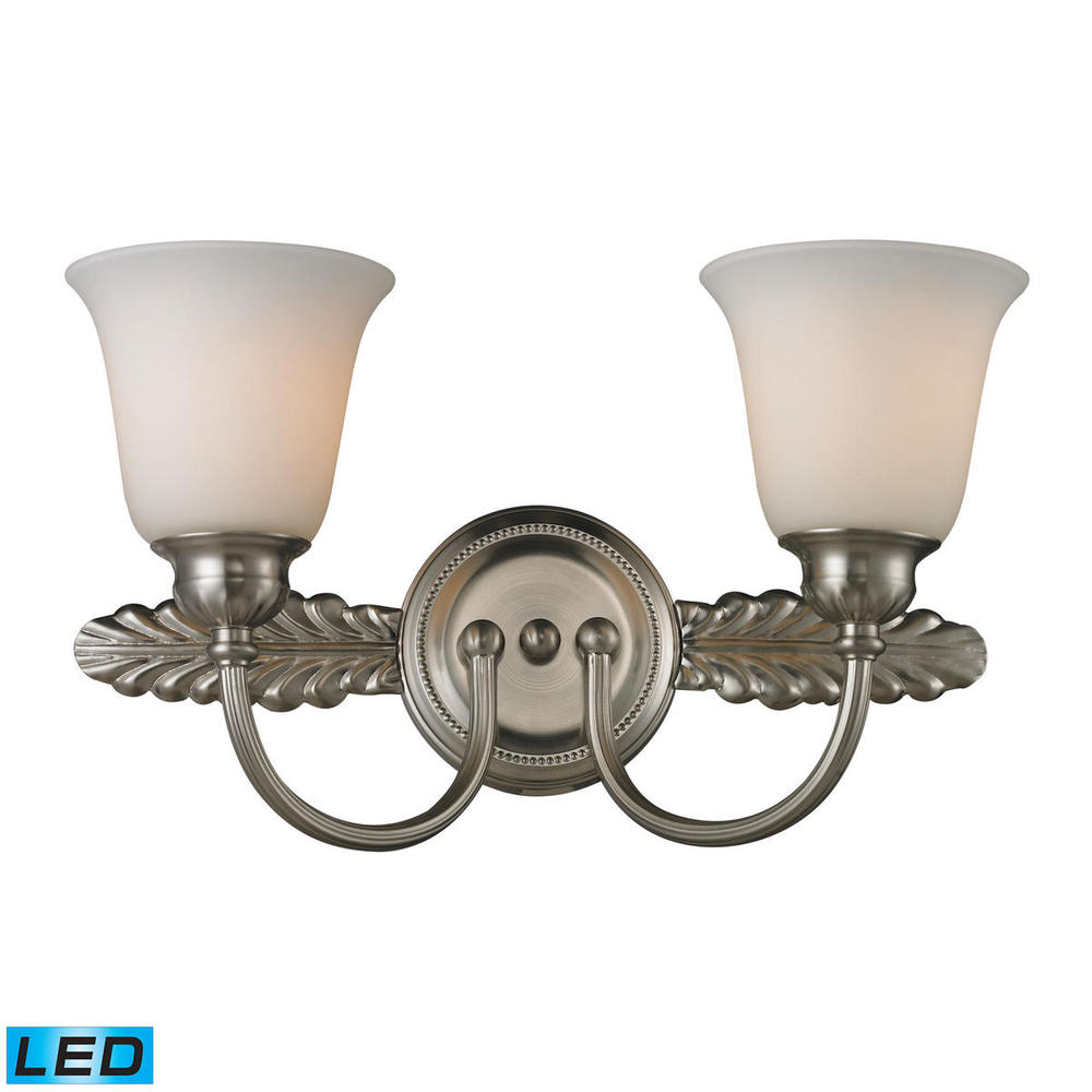 Ventura 2 light bath in brushed nickel led 800 lumens 1600 lumens total